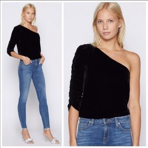Joie velvet one shoulder top 6
